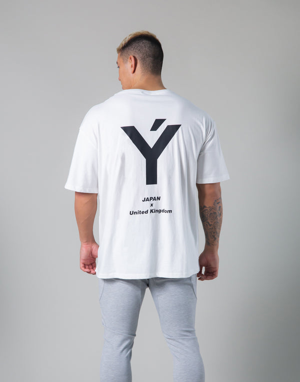 Back Big Y Logo Big T-shirts - White