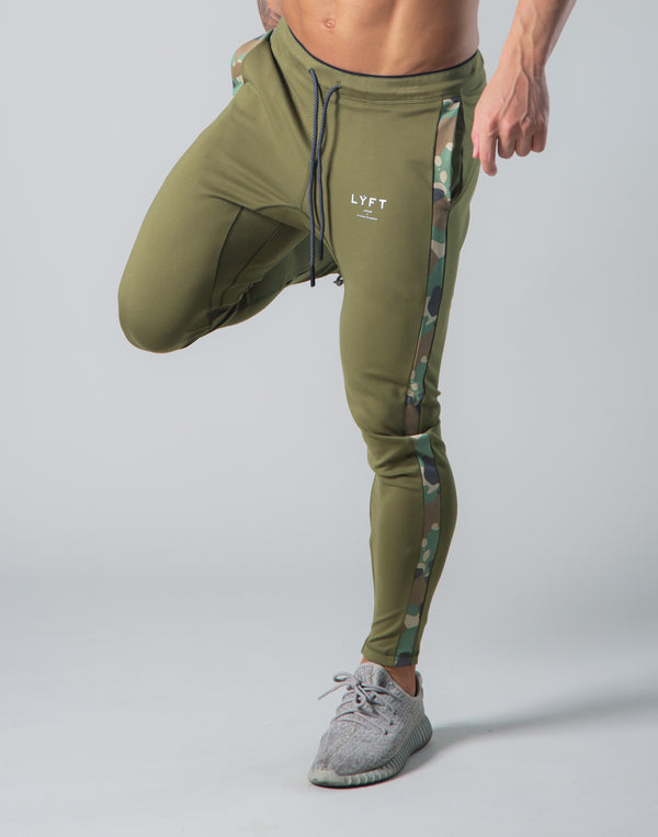 2Way Stretch Camo Line Pants - Olive