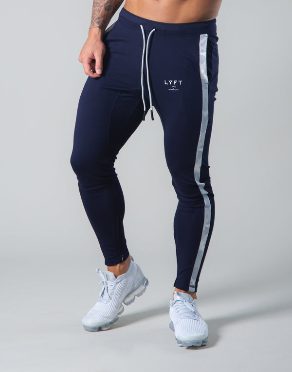 2Way Stretch Camo Line Pants - Navy