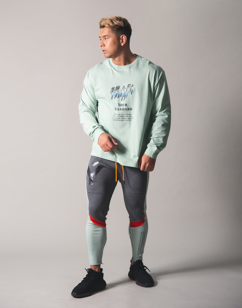 Metalic Logo Long T-Shirt - Mint