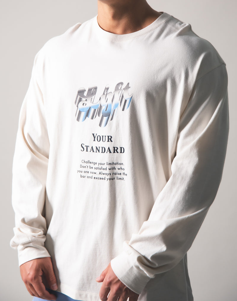 Metalic Logo Long T-Shirt - Off White