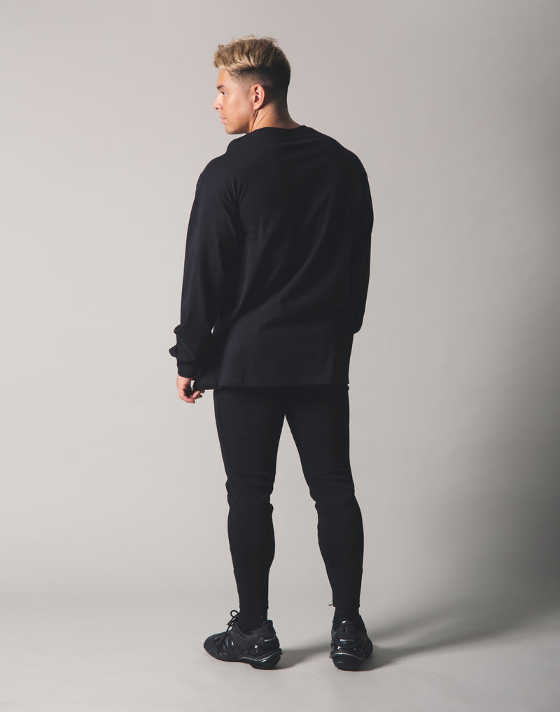 Metalic Logo Long T-Shirt - Black