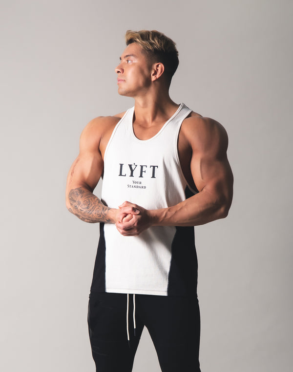 LYFT Logo Training Tanktop - Off White x Black