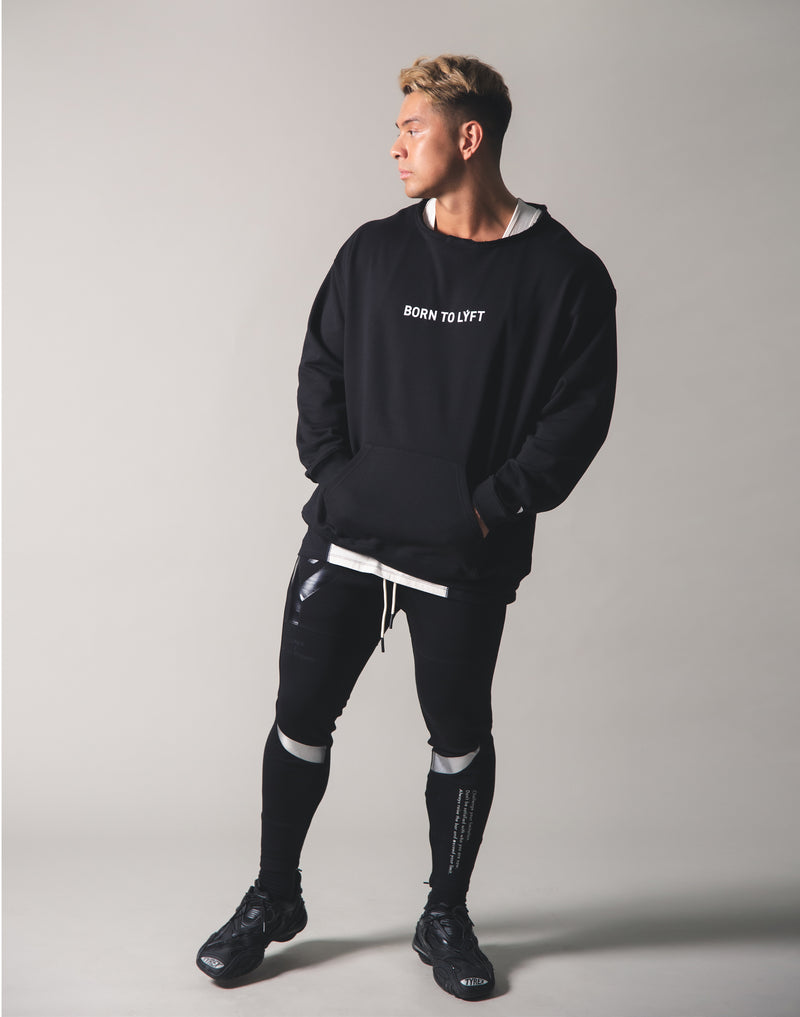 Cut off Sweat Pullover - Black