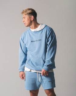 Cut off Sweat Pullover - L.Blue
