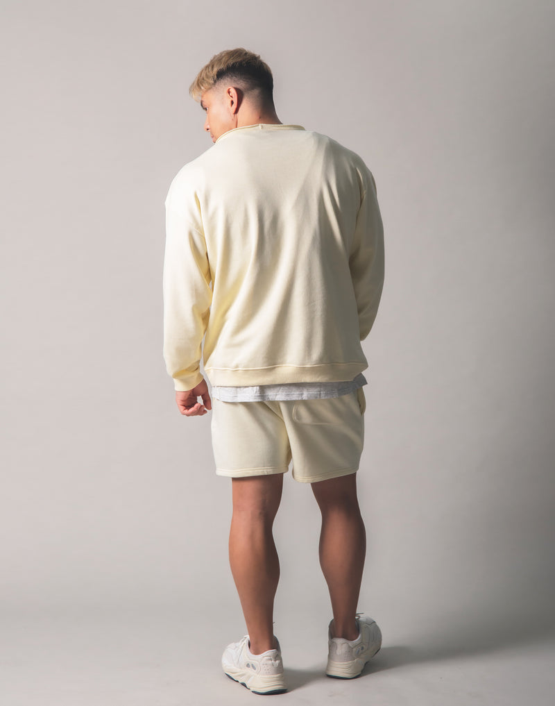 Cut off Sweat Pullover - Champagne