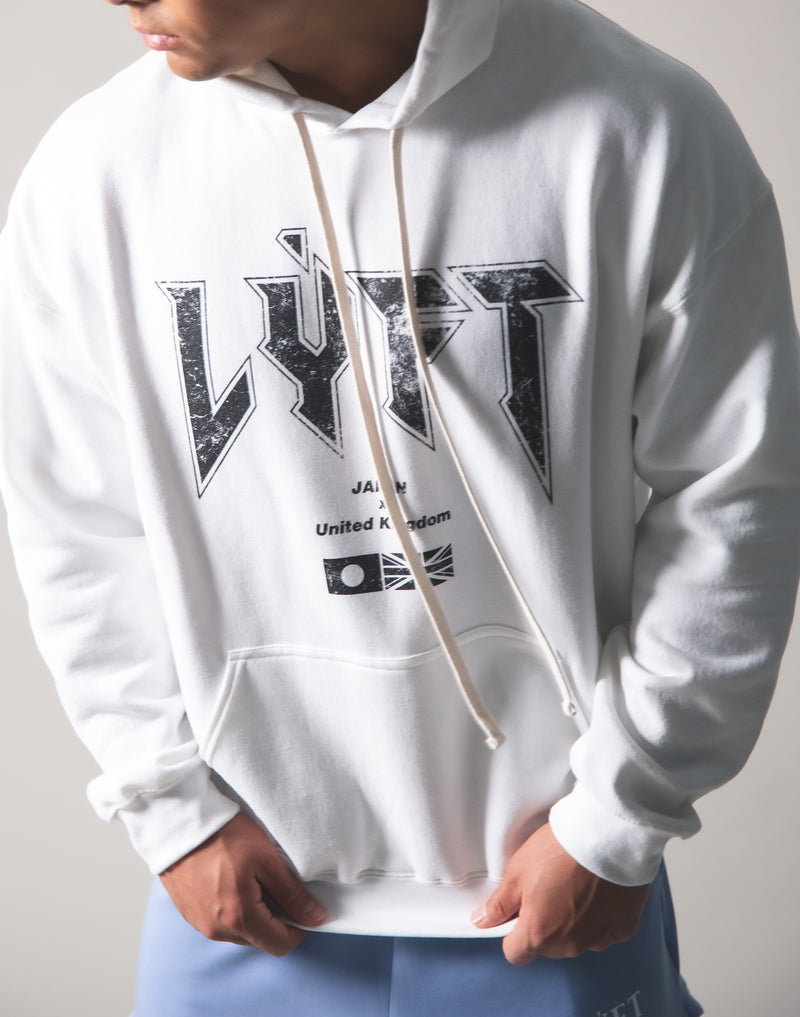 LÝFT London Punk Sweat Pullover - White
