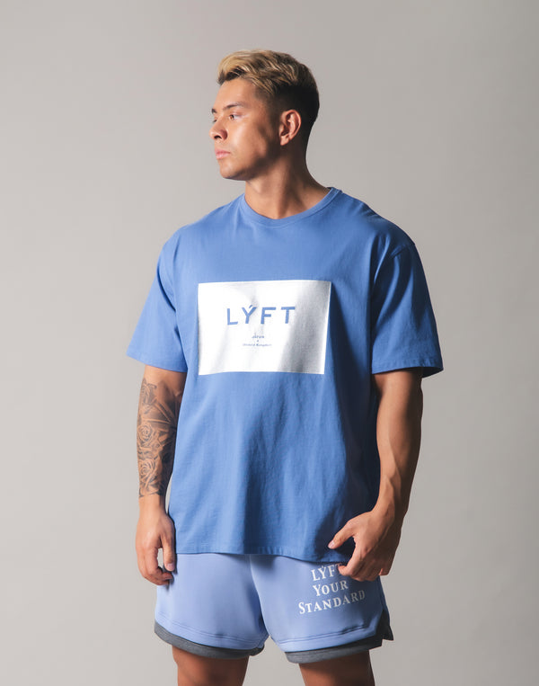 LYFT Box Logo Big T-Shirt - L.Blue