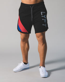 LÝFT Wide Stripe Shorts - Black