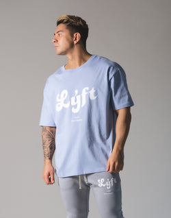 LÝFT Old Logo Big T-shirt - L.Blue