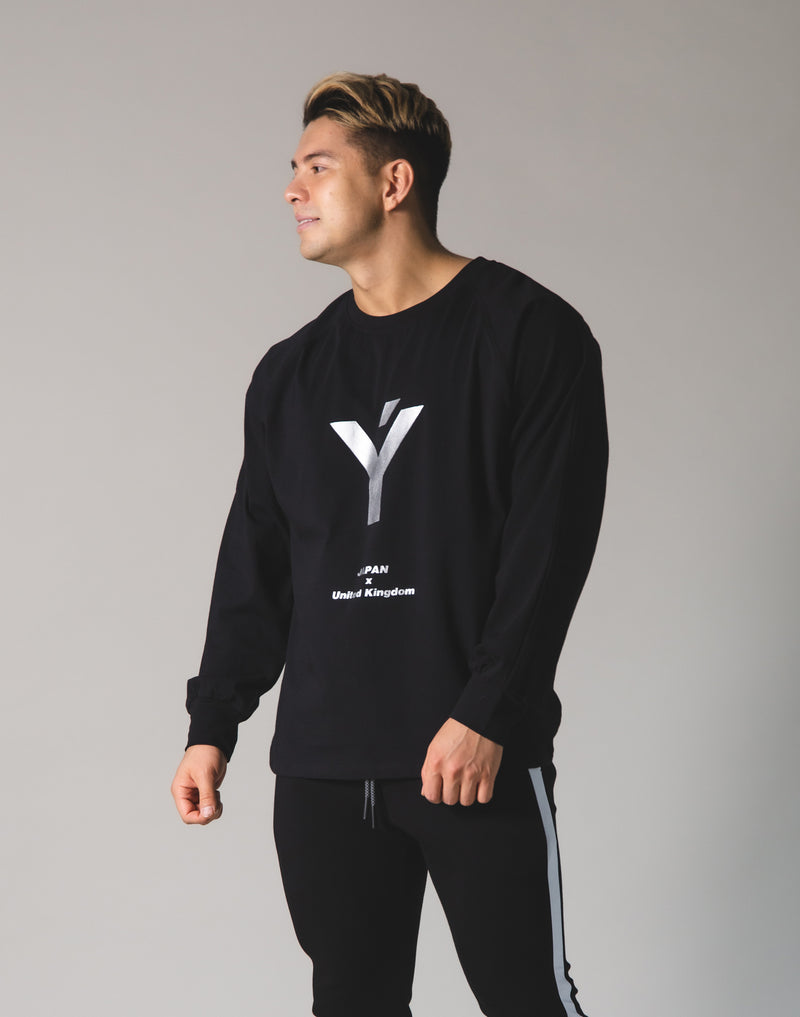 Ý Logo Long T-Shirt - Black