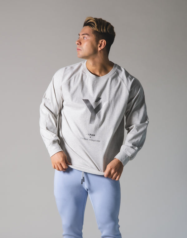 Ý Logo Long T-Shirt - Grey