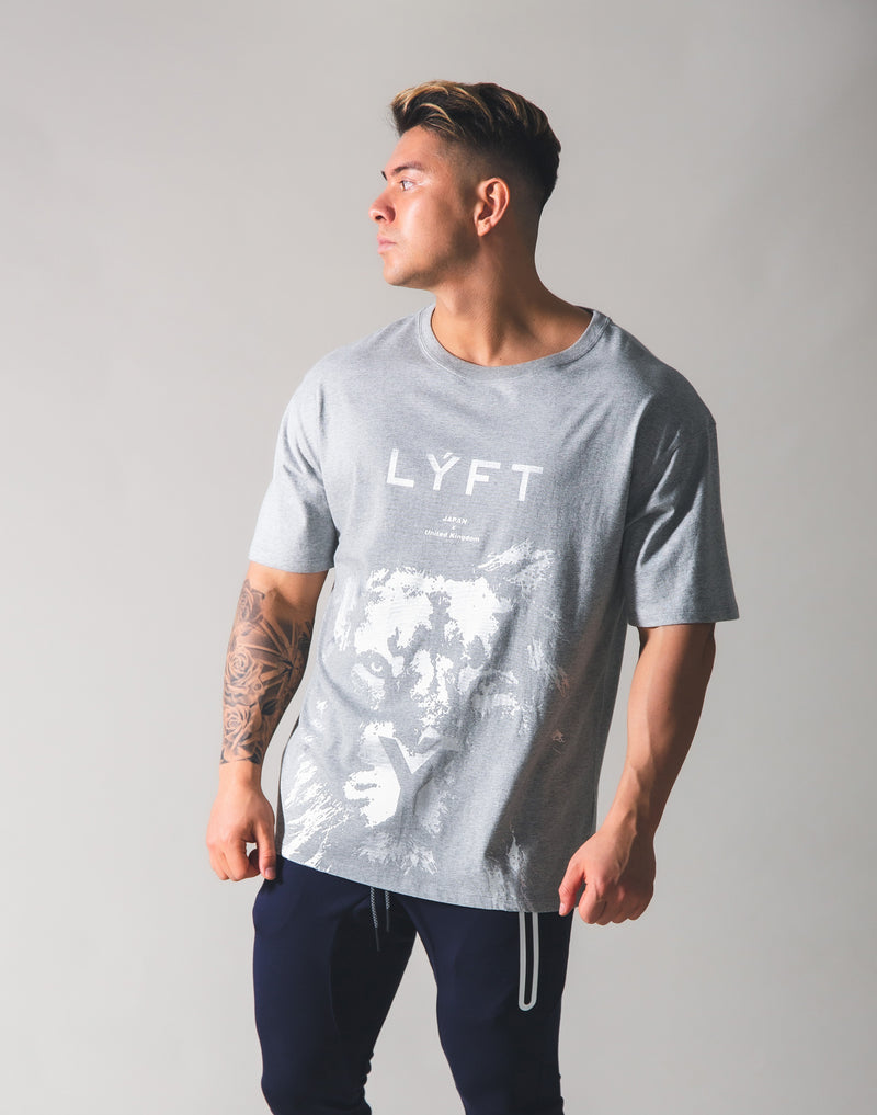 LYFT Lion Big T-shirt - Grey