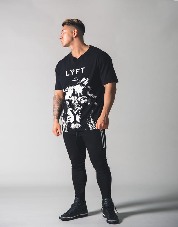 LYFT Lion Big T-shirt - Black