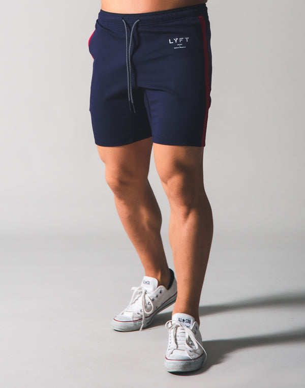 One Line Half Pants - Navy