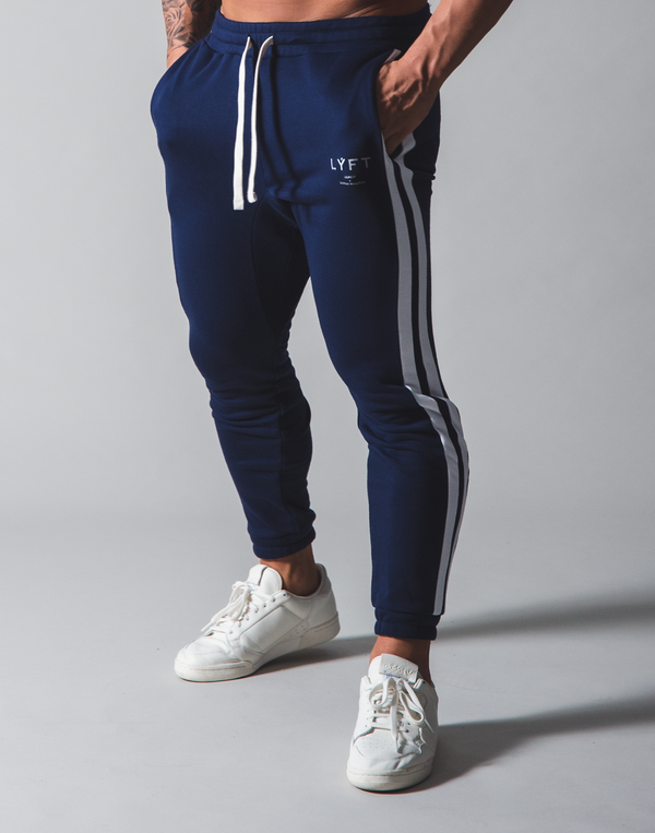 LÝFT 2 Line Sweat Pants - Navy