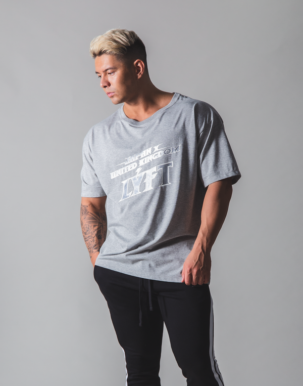 LÝFT Hard Rock Logo Big T-shirt - Grey