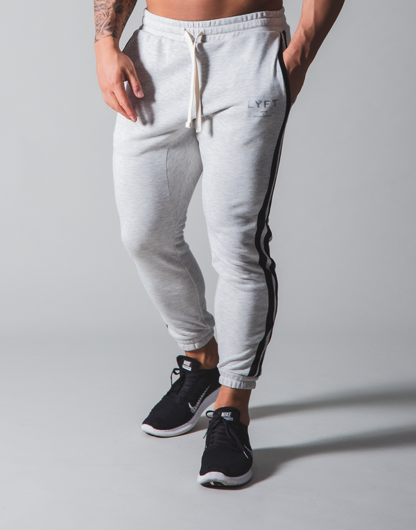 LÝFT 2 Line Sweat Pants - Grey