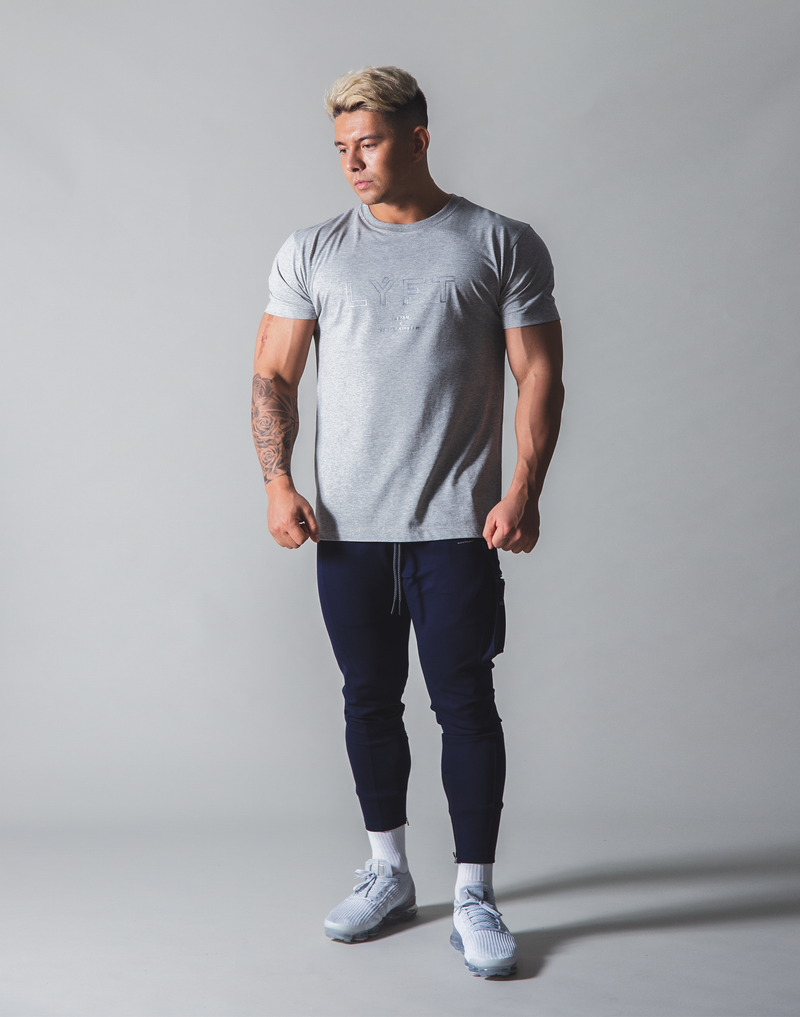 LÝFT Out Line Logo Standard T-Shirt - Grey