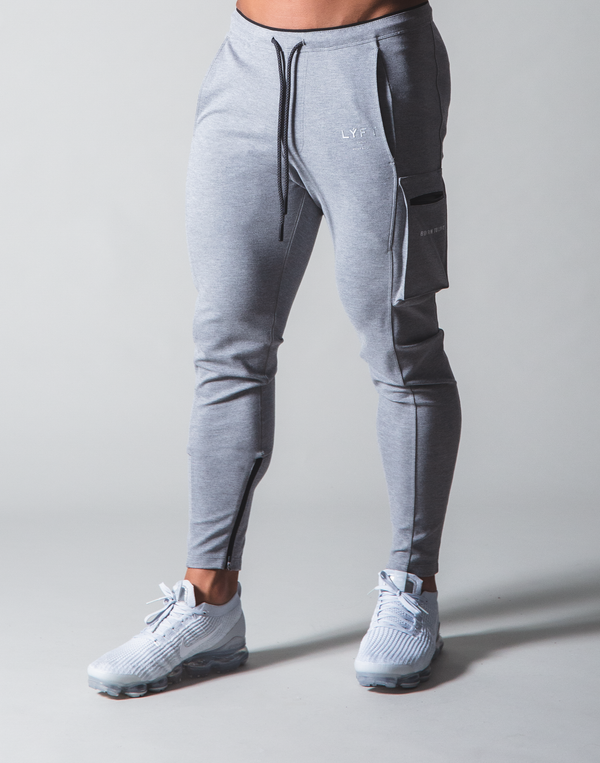 LÝFT Stretch Side Cargo Pocket Pants - Grey