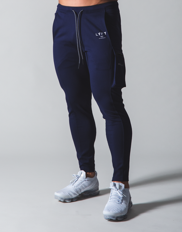 LÝFT Stretch Side Cargo Pocket Pants - Navy