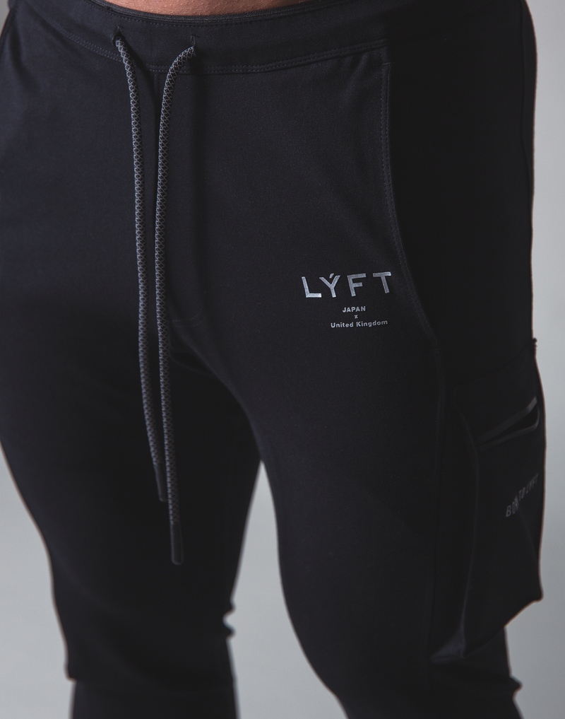 LÝFT Stretch Side Cargo Pocket Pants - Black