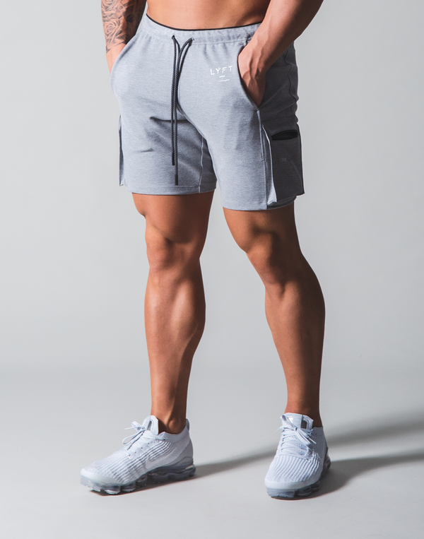 LÝFT Stretch Side Cargo Pocket Shorts - Grey