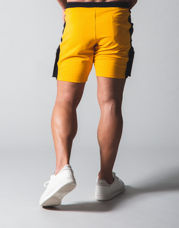 LÝFT Stretch Side Cargo Pocket Shorts - Yellow