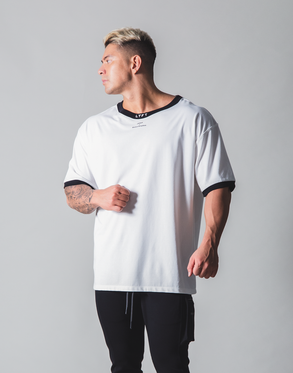 LÝFT Neck Logo Big T-shirt - White