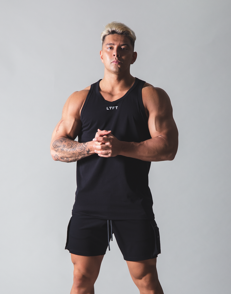 LÝFT Standard Fit Tanktop Rear Wappen - Black