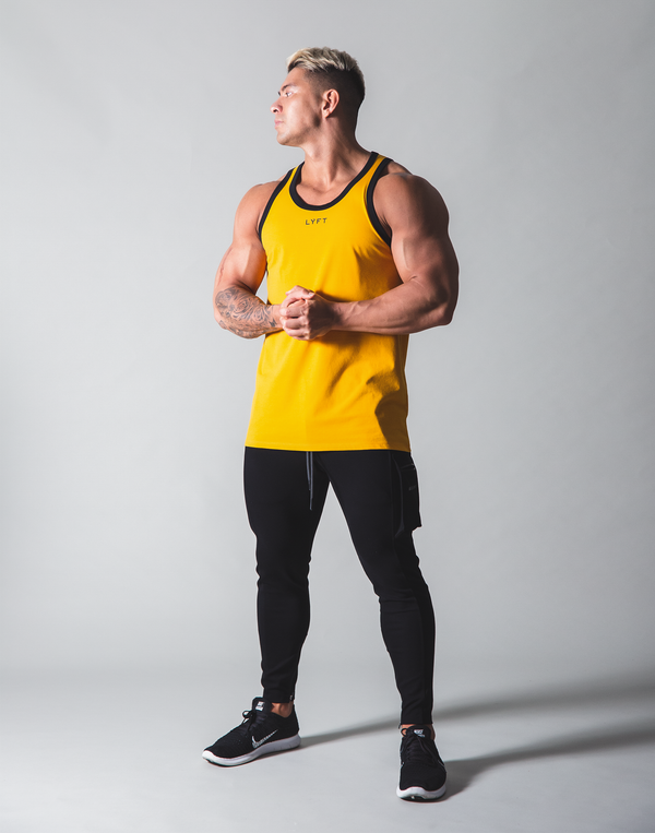 LÝFT Standard Fit Tanktop Rear Wappen - Yellow