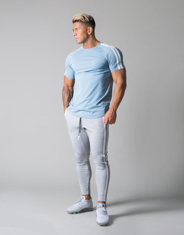 Slim Fit 2 Line T-Shirt - L.Blue