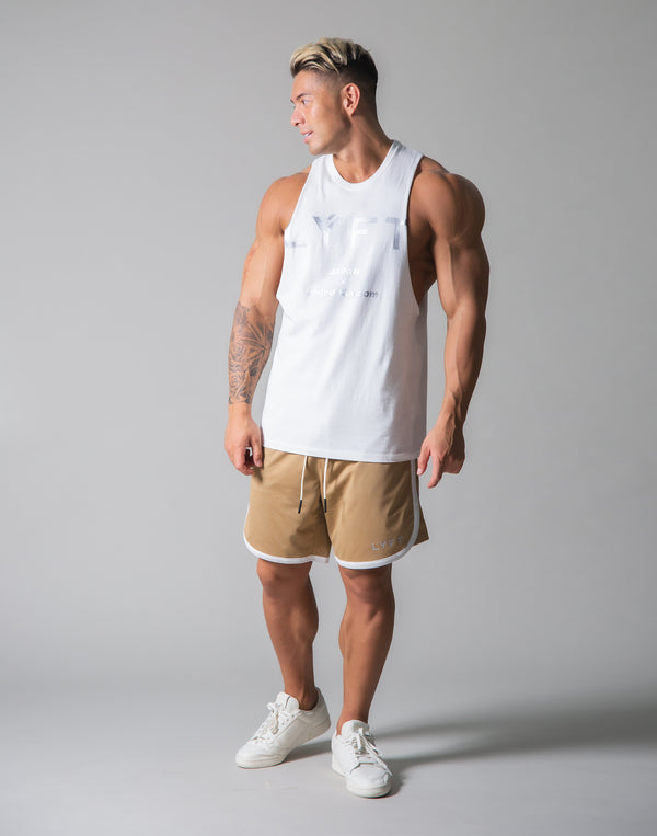 Standard Logo Vintage Drop Shoulder Tanktop - White