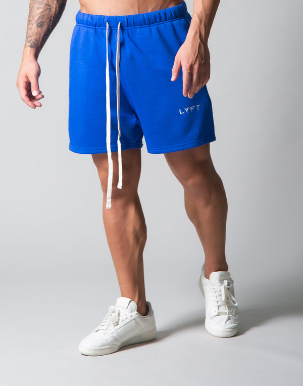 LÝFT Logo Sweat Shorts - Blue
