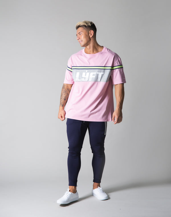 Separate Line Big T-shirts - Pink