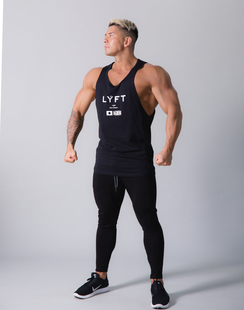 LÝFT Flag Athletic Fit Tanktop - Black