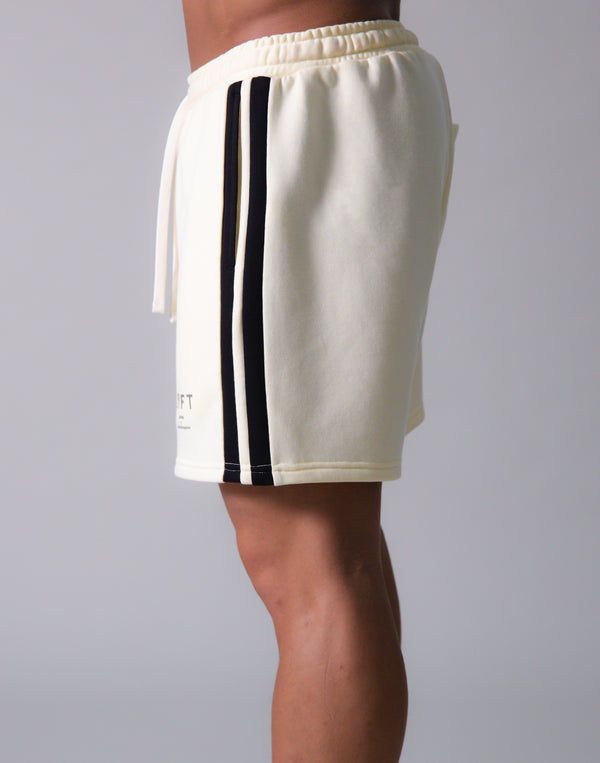 LÝFT 2 Line Sweat Shorts - Champagne
