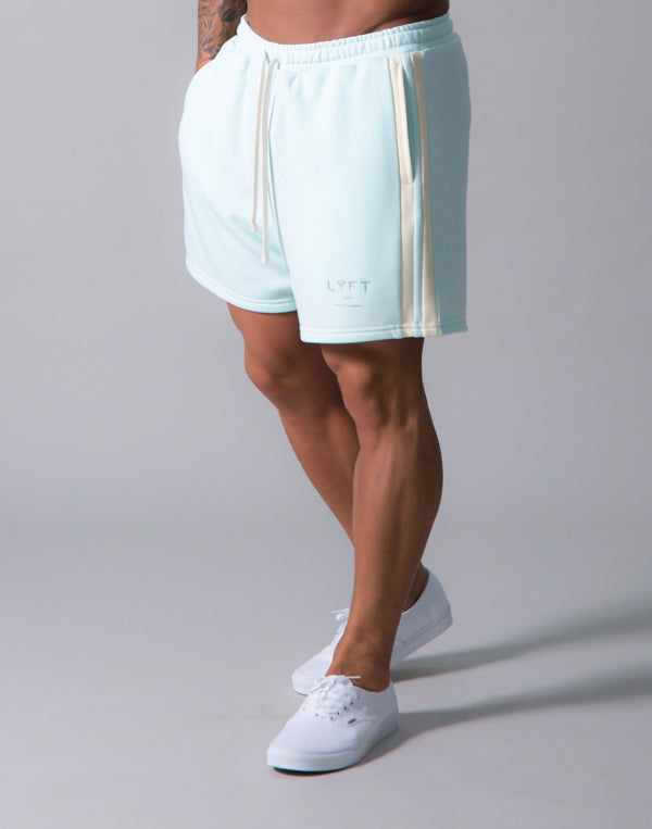 LÝFT 2 Line Sweat Shorts - Mint
