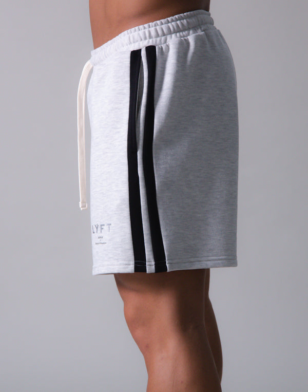 LÝFT 2 Line Sweat Shorts - Grey