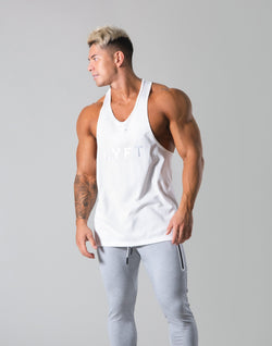 Round Separate Training Tanktop - White