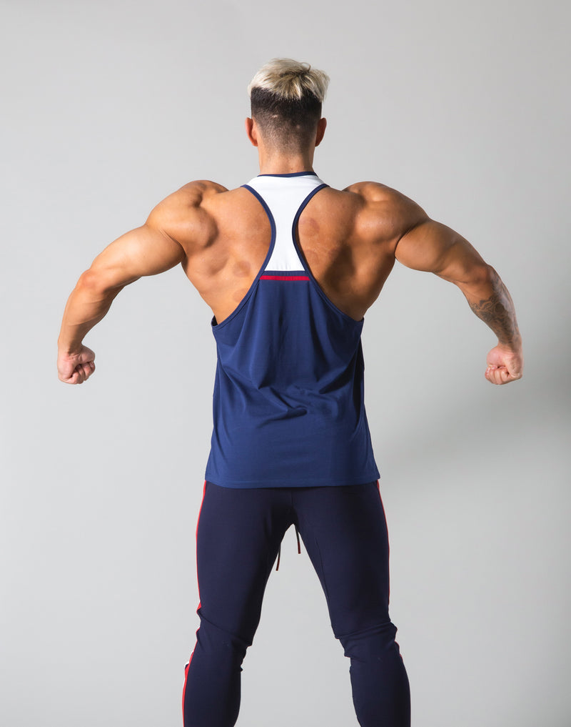 Round Separate Training Tanktop - Navy