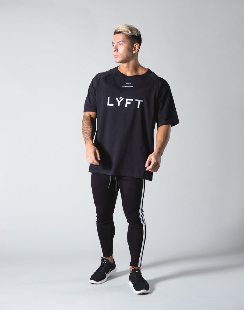 Round Separate Big T-shirts - Black