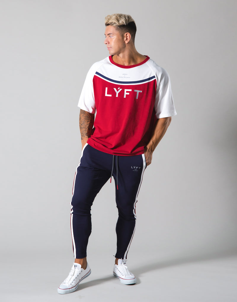 Round Separate Big T-shirts - Red