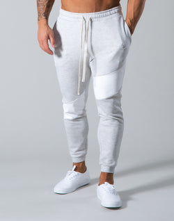 Angle Wide Line Sweat Pants - Grey