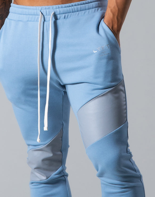 Angle Wide Line Sweat Pants - L.Blue