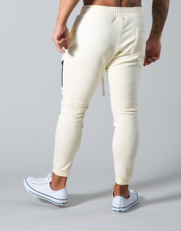 Angle Wide Line Sweat Pants - Champagne