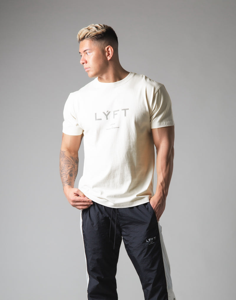 LÝFT Metallic Reflector Logo Standard T-Shirt - Off White