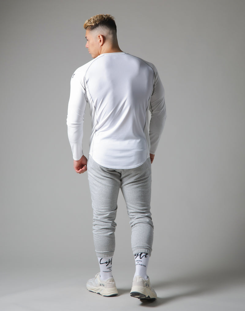 Script Logo Slim Fit Long Sleeve T-Shirt - White