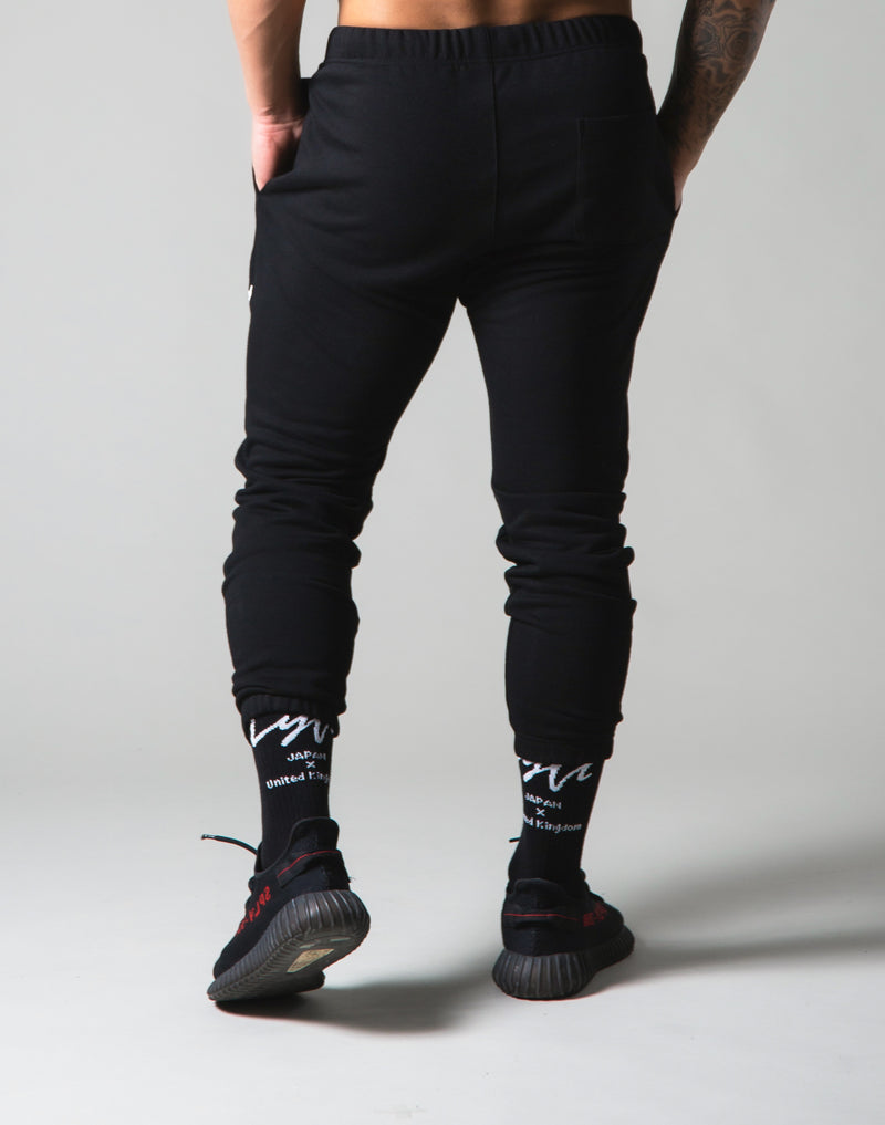 Script Logo Sweat Pants - Black