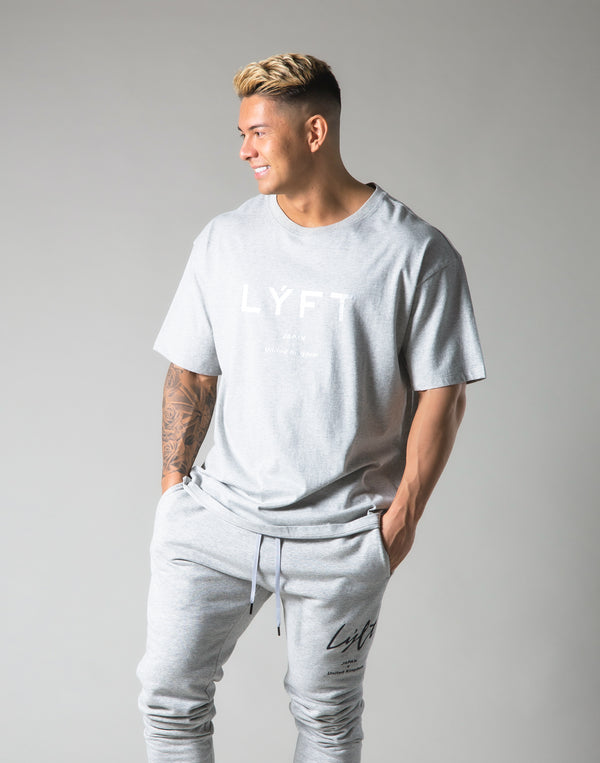 LÝFT Logo Big T-Shirt - Grey